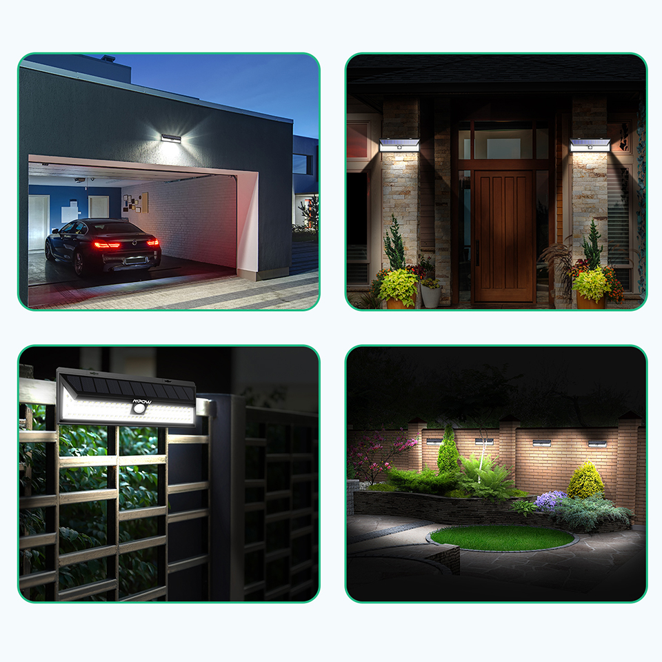 Mpow CD126 Super Bright 102 LED Solar Light Waterproof Outdoor Garden Secure Lights (7)