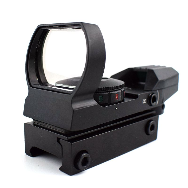 11mm / 20mm Rail Riflescope Hunting Optics Holographic Tactical Red Dot Sight Reflex 4 Reticle Collimator Sight Gun Accessories