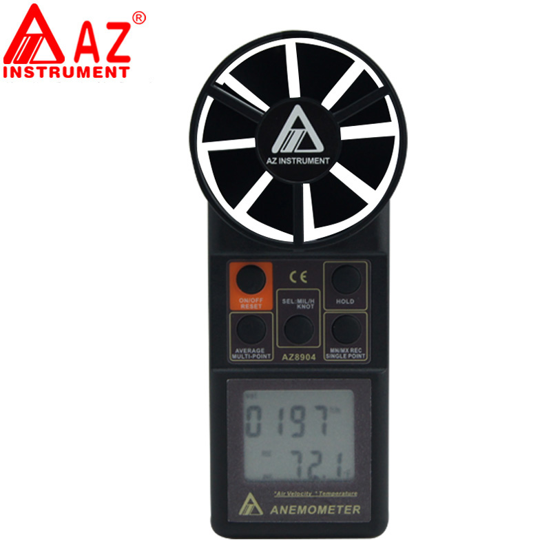 Electronic Measuring Instruments : Az handheld digital anemometer wind speed meter