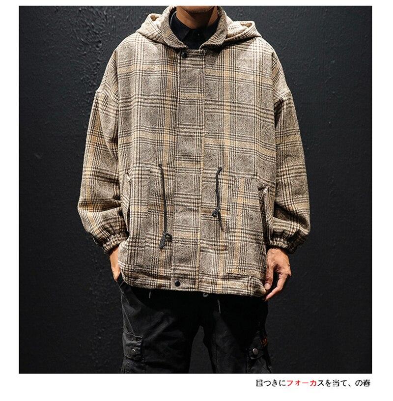 Korean Trench Coat Men Overcoat Hood Slim Fit (14)