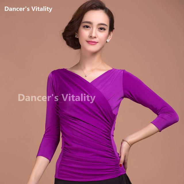 7f51de84ffd New sexy Ballroom Modern Latin dance clothes top for women female girl  dancerwears