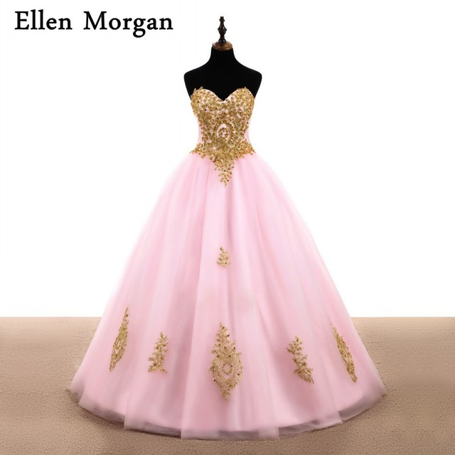 Pink Ball Gowns Prom Dresses 2019 Sexy Lace up Beaded Sweet 15 16 Cheap Quinceanera Gowns Runway Fashion for Pageant Women