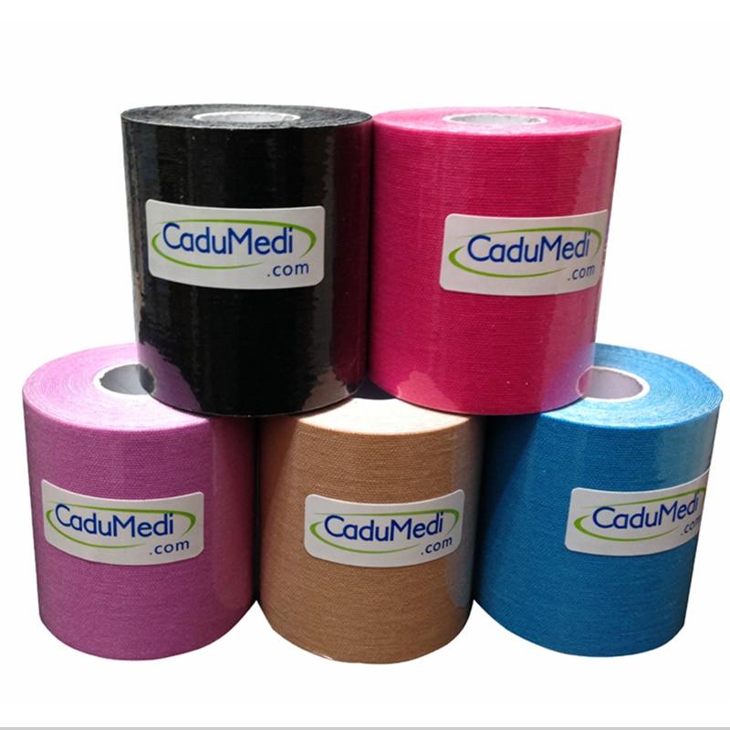 7,5 cm x 5 mt Kinesiologie Kinesio Tape Rollen Cotton Elastic Sport Muscle patch Tapeverband Physio Strain Injury unterstützung