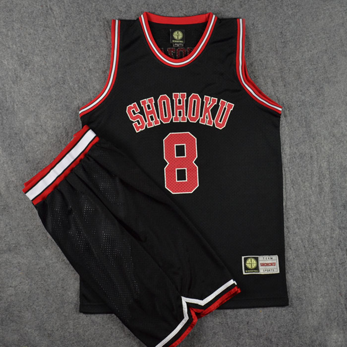 796f2a219 Slam Dunk Shiozaki Tetsushi NO.8 Basketball Jersey and Shorts Athletic  Apparel Cosplay Costume Sports Wear Size M-XXL 3 Color