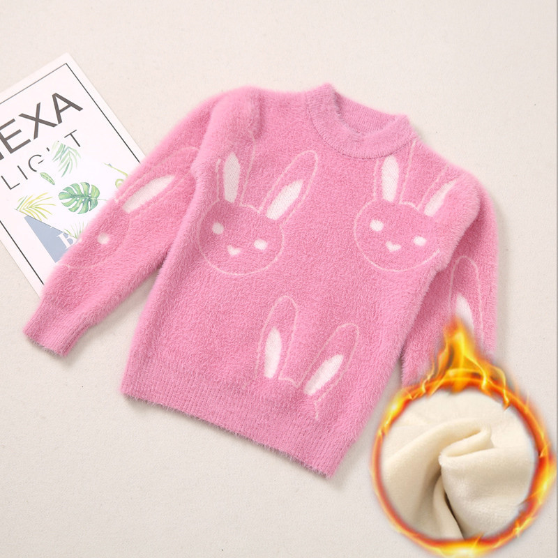 Baby Girl Sweater Waterproof Mink Wool Sweater for Children Autumn and Winter Dress for Girls and Wool for RabbitsBaby Girl Sweater Waterproof Mink Wool Sweater for Children Autumn and Winter Dress for Girls and Wool for Rabbits