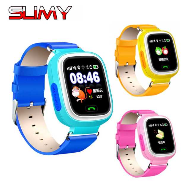 Slimy Q90 GPS Kids Smart Watch Baby Smartwatch GPS Position Wifi Location Finder for Kids Anti Lost Monitor with Touch Screen