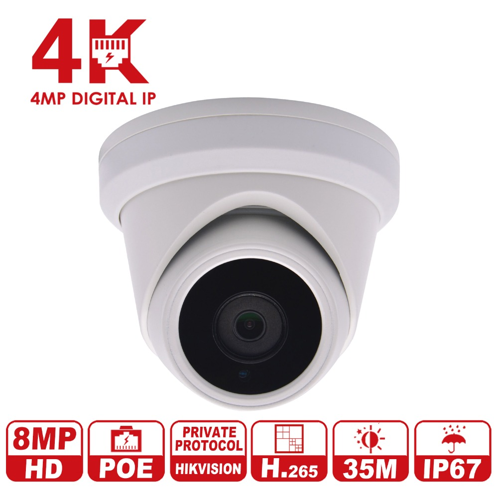 Anpviz 8MP Network Dome IP Camera H.265 with Hikvision protocol CCTV Surveillance Camera Replace Hikvision DS-2CD2385FWD-I hikvision 8mp ip camera ds 2cd2385fwd i turret network camera h 265 high resolution cctv camera with sd card slot ip67