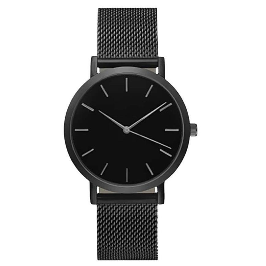 Mode Frauen Kristall Edelstahl Analog Quarz Armbanduhr Armband DEC19