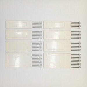 Agulhas padrão da transferência do pente, 8 peças para a máquina de tricô brother de prata kh840 kh860 acessórios de tricô
