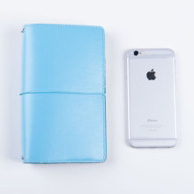 Lovedoki Macaron Notebook Retro Leather Travelers Journal Cute Portable Bandage Personal Diary Day Planner Agenda 2018