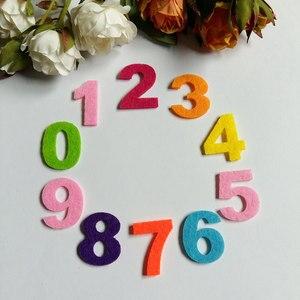 150 Uds. Tela de fieltro números tejido de fieltro poliéster tejidos aguja para manualidades costura hecha a mano/artesanía/Scrapbooking