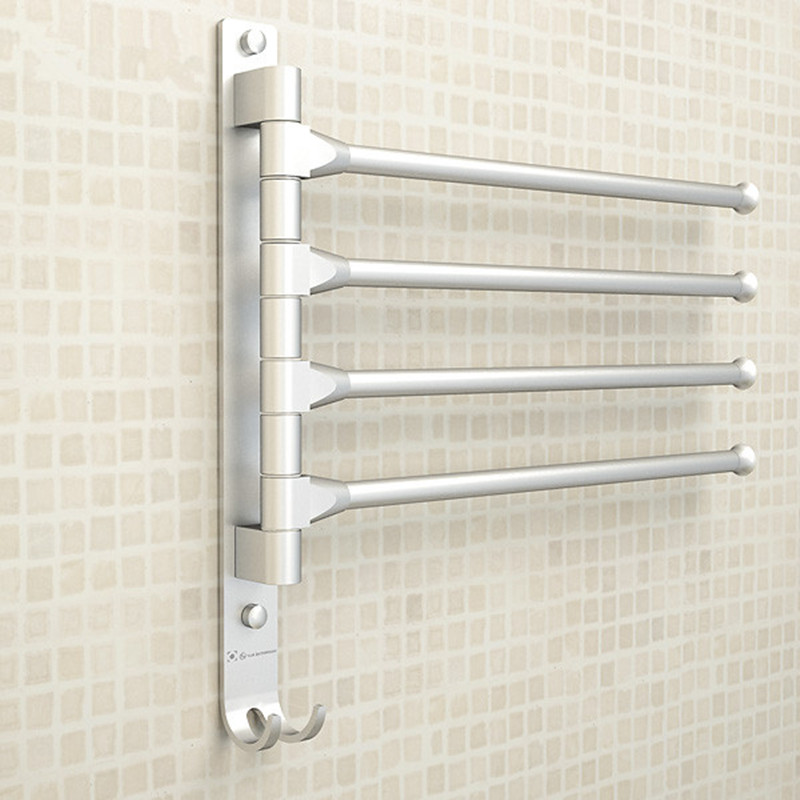 European Space Aluminium Towel Rack 4/3/2 Arms Towel Hanging with Hooks Bathroom Towel Rack Movable Towel Bars Bathroom ProductsEuropean Space Aluminium Towel Rack 4/3/2 Arms Towel Hanging with Hooks Bathroom Towel Rack Movable Towel Bars Bathroom Products