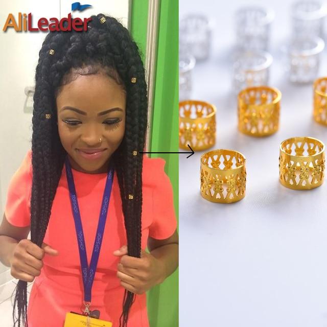 Colorful Dreadlock Beads Braid Cuffs Hair Extension Rings 1005pcs