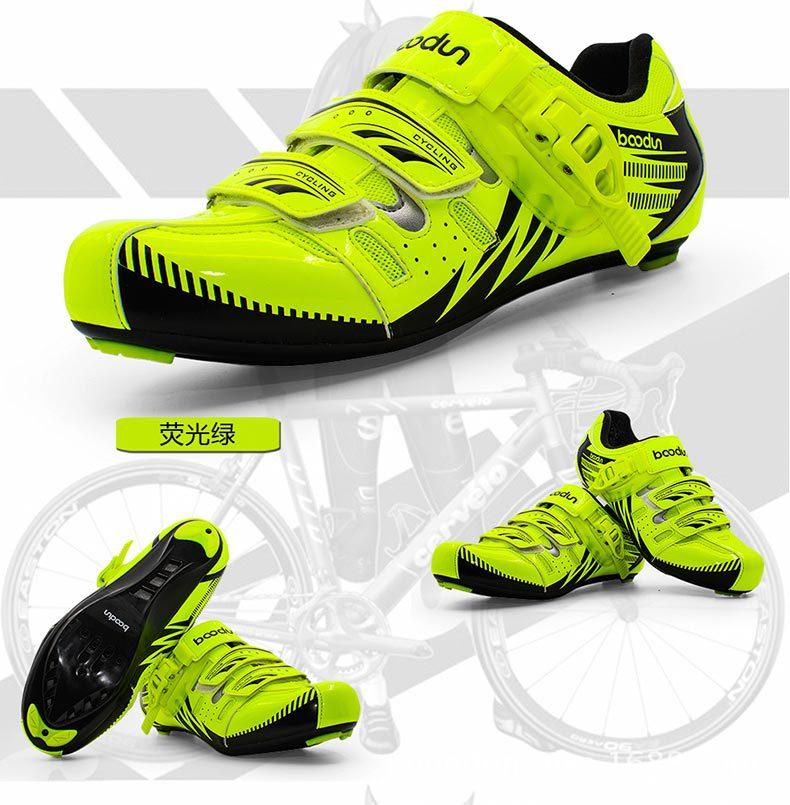 купить boodun new carbon fiber road cycling shoes sports shoes professional equipment mountain bike cycling shoes lock shoes дешево