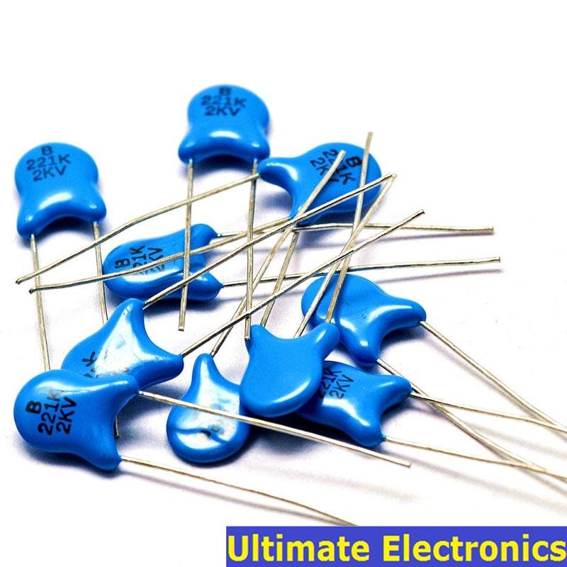 20pcs 220pF 221 2KV 0.22nF High Voltage Ceramic Disc Capacitor