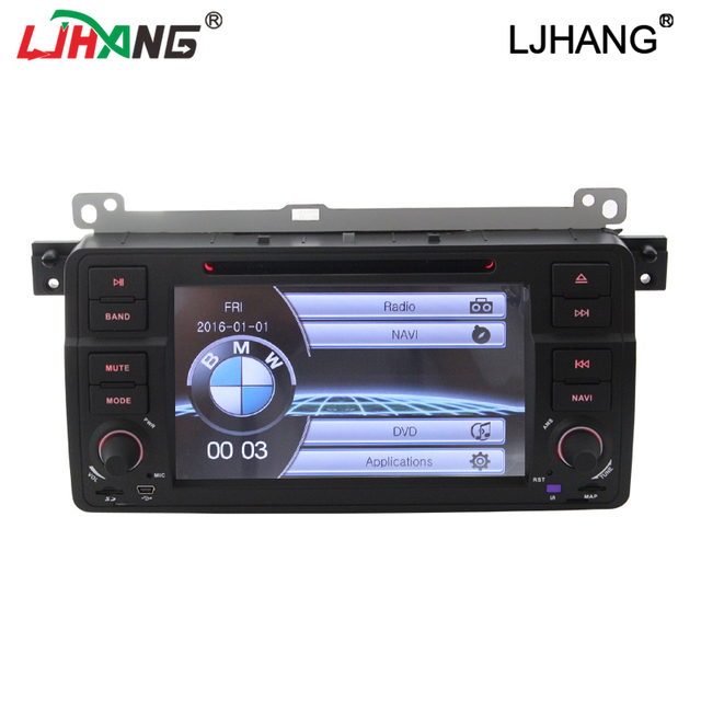 Double din  7 inch  touch Screen Car DVD Player with GPS Navigation Canbus for BMW E46 BMW 3 Series with RDS FM AM RDS BT SWC