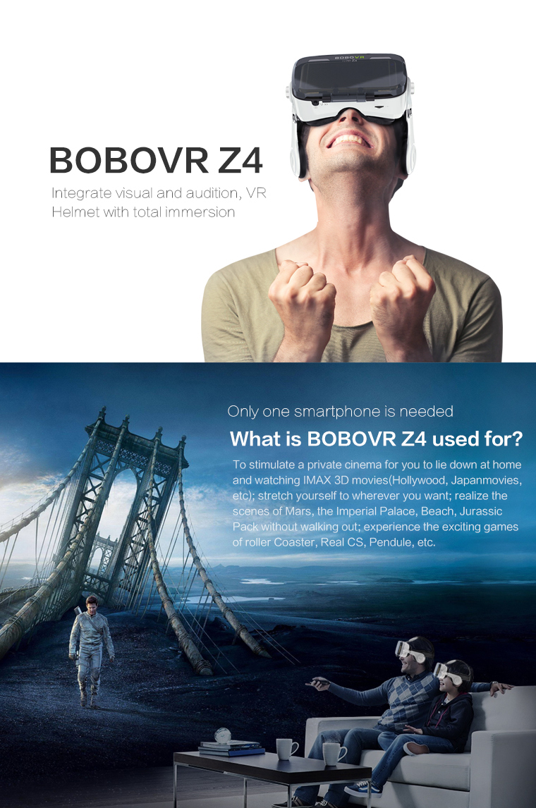 Original brand BOBOVR Z4 xiaozhai Virtual Reality 3D VR Glasses cardboard bobo vr z4 for 3.5 - 6.0 inch smartphones Immersive 1