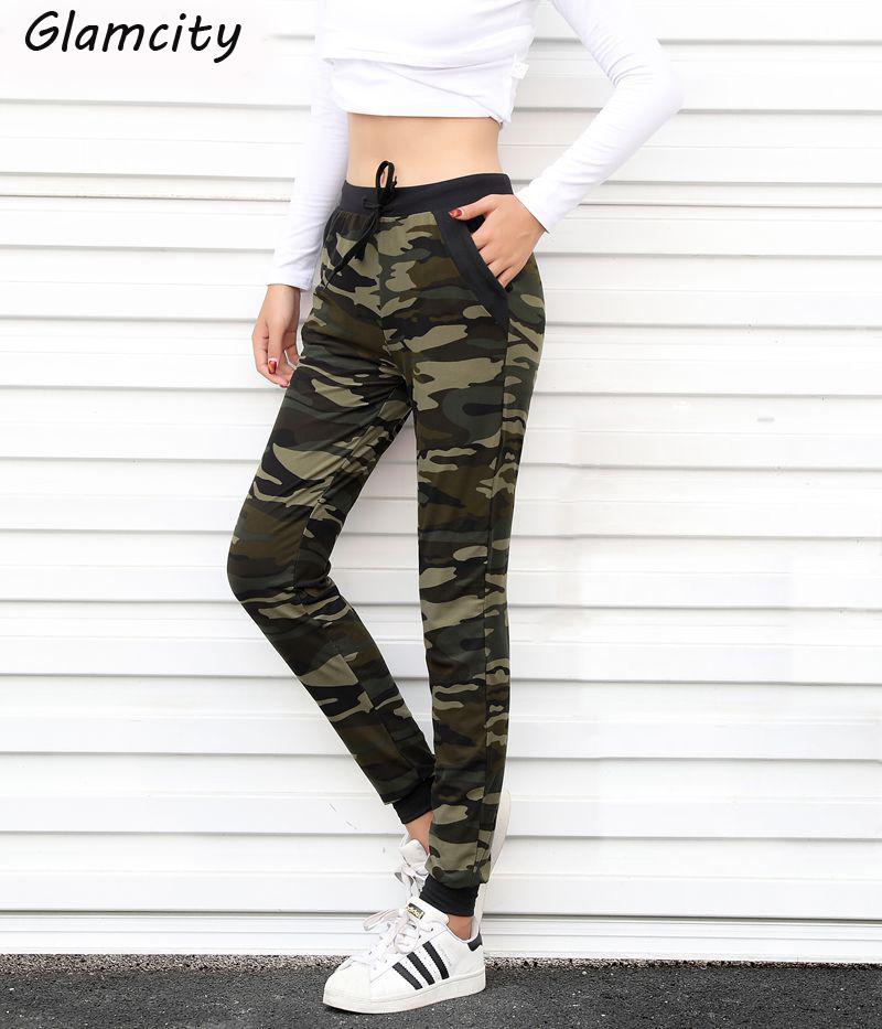 Popular New Camouflage Camo Army Green Print Cropped Womenu0026#39;s Capri Joggers Pant USA | EBay