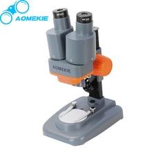 40X Binocular Stereo Microscope LED Light PCB Solder Mineral Specimen Watch Students Kids font b Science