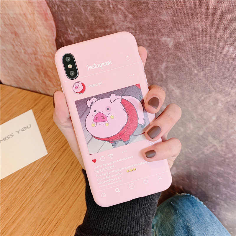 INS cute pig for Huawei P20 lite case P10 Mate 20 Pro smart P30 Honor 8x 10i 8c P8 10 9 7a y9 7c Nova 3 3i view Soft Silicon P9