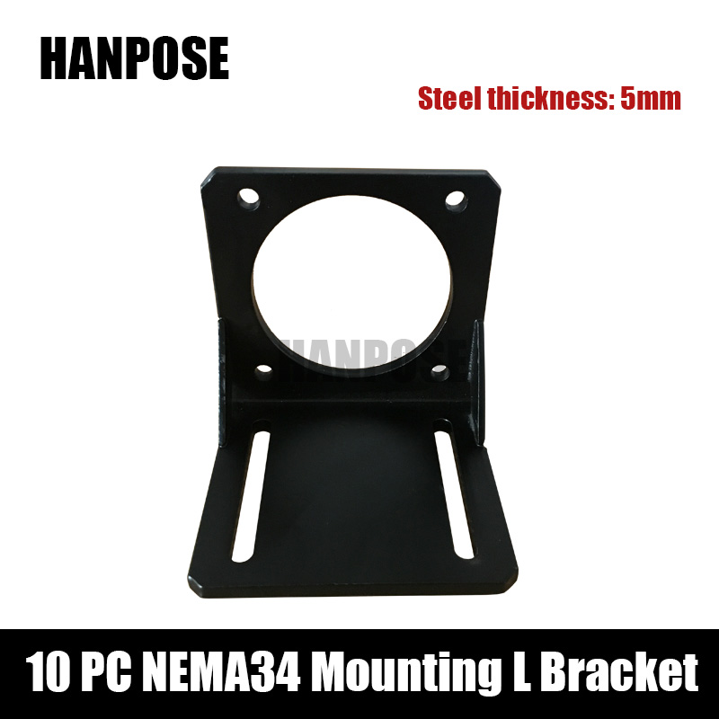 10pcs <font><b>Nema</b></font> <font><b>34</b></font> Stepper <font><b>Motor</b></font> <font><b>mounting</b></font> bracket for Nema34 <font><b>motor</b></font> cnc and 3D printer image