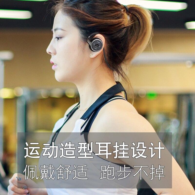 Casque de sport sans fil bluetooth tête de course portant l'oreille tête arrière prise de téléphone MP3 double oreille casque de fitness basse lourde - 4