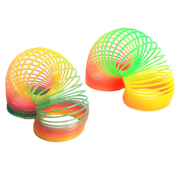 Magic Slinky Rainbow Springs Bounce Fun Toy Kid Children Toy Classic childrens toys rainbow ring