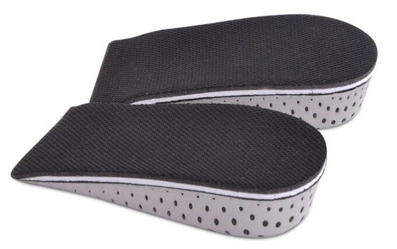 1Pair Hot Selling 3.3cm Hight Increase Inshole Heel Lift Insert Shoe Pad Cushion Elevator Taller Breathable Unisex Men Women