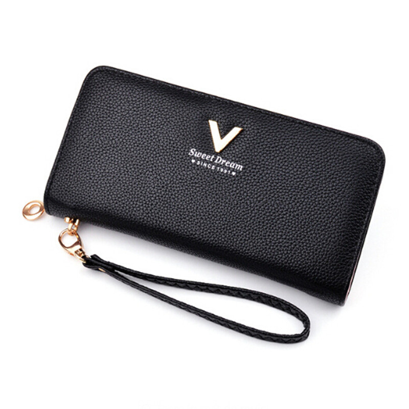 2019 Latest Design Female Pu Leather Long Wallets Card Holder Money Clutch Wristlet Multifunction Zipper Women Long Wallet Large Capacity Wallet We Take Customers As Our Gods Women's Bags