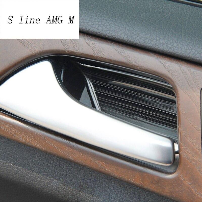 Araba styling kapı kolu Trim kapı kase Sticker dekorasyon Trim için Mercedes Benz GLE W166 ML GL GLS X166 oto aksesuarları