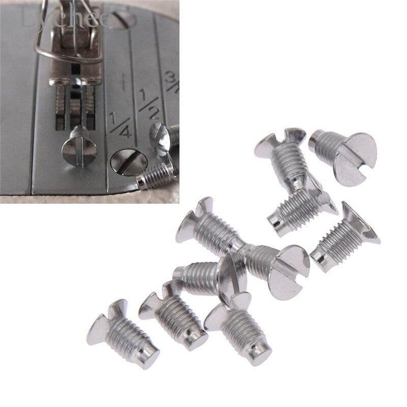 Lychee 10pcs Industrial Sewing Machine Screws Needle Plate Screws Sewing Machine Parts Accessory