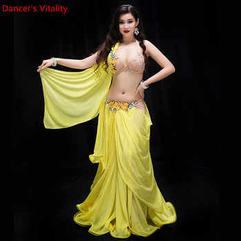 New Performance Dancewear Clothes Bellydance set B/C Cup Chiffon Long Skirt Women Professional Belly Dance Costume Set - DISCOUNT ITEM  18 OFF Novelty & Special Use