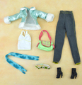 Limited Edition Original Winter Wear /Green Plush Leather Coat Long Pants Doll Accessories Clothing Suit For Kurhn Barbie Doll