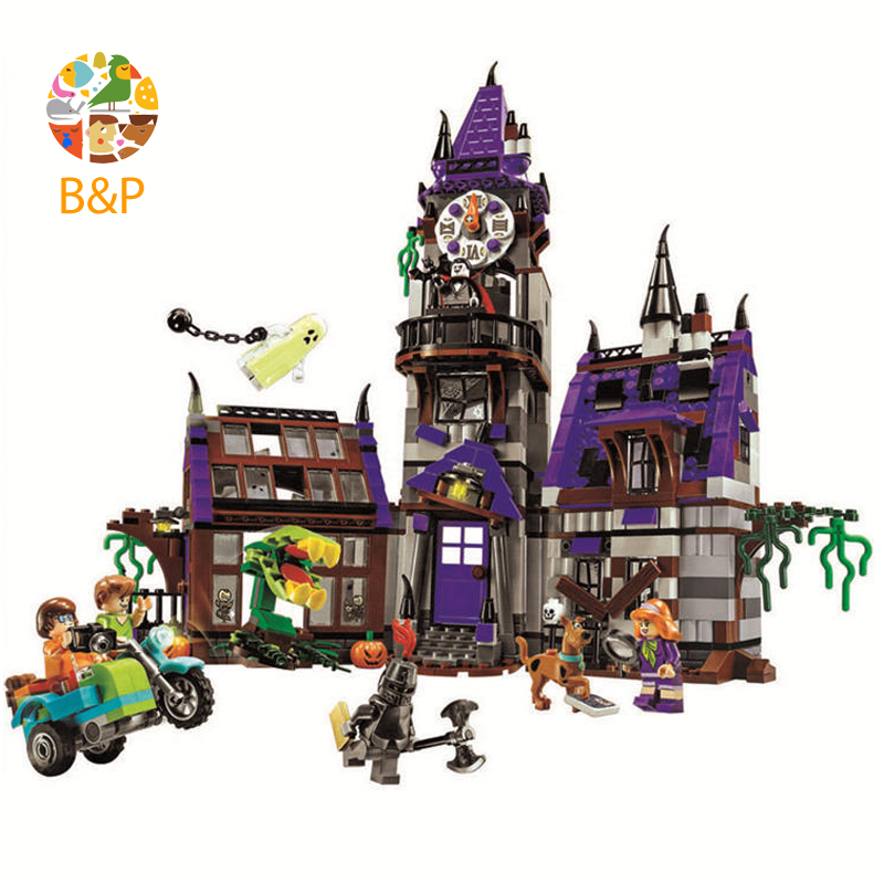 legoing 75904 860pcs Scooby Doo Series The Mystery Mansion Building Blocks Toys Set Bricks Boy Kid Toys Compatible 10432 Gift pogo bela 10430 scooby doo mystery machine scooby doo building blocks bricks toys compatible legoe