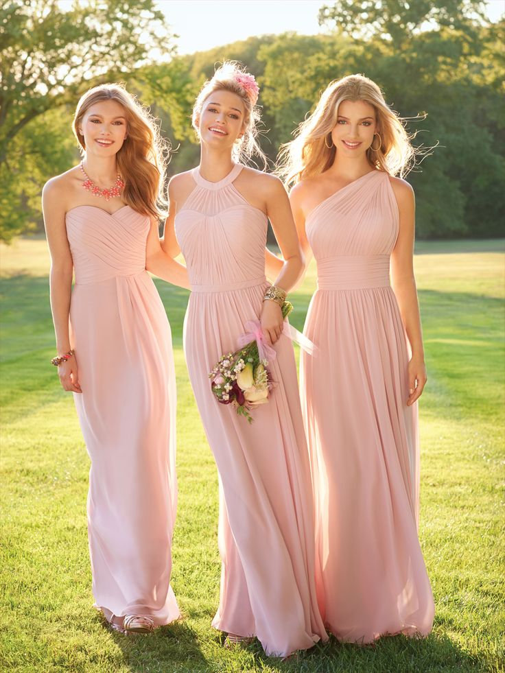 2017 Blush Pink Long Country Stylem Beach Bridesmaid Dresses Ruched Backless Maid Of The Honor In From Weddings Events On