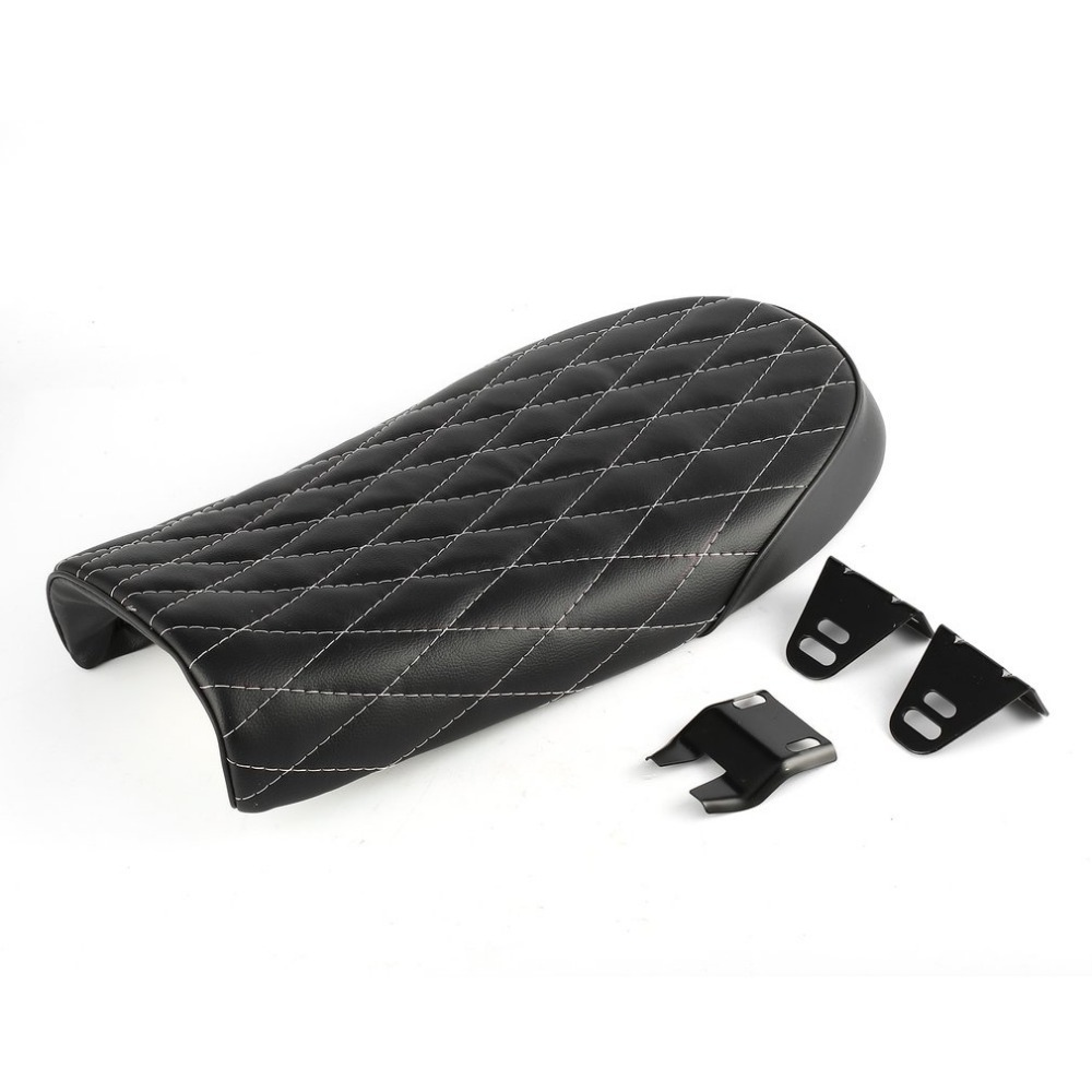 New Universal Seat Cushion Plaid Stitching Hump Cover Saddle for Motorcycle Racer Motorbike Race Rear Fashion Styling Decoration(China)