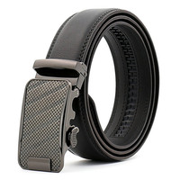110 130cm New Fashion Business Men Belt Buckle Alloy Automatic Belt Head 100 Cowskin Strap Hot