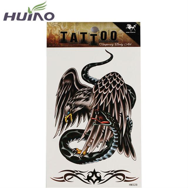 US $0 8 |2015 New Trendy Airbrush Eagle Temporary Snake Tattoo Stencils  Designs For Men Women Girl Lady Tattoo & Body Art Designer-in Temporary