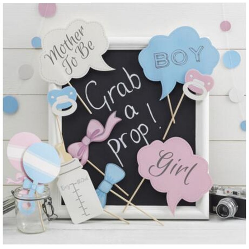 10Pcs Colorful Creative Photo Booth Props baby show girls and boys party decoration Birthday Christmas new year event favors