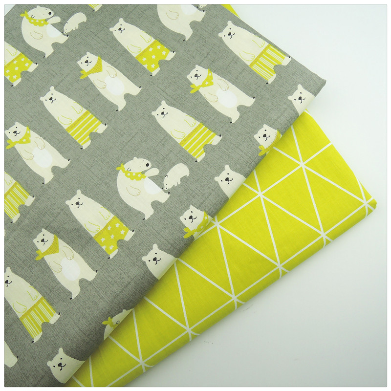 Amarillo tiene tela de la impresión de telas patchwork tela de algodón de diy ar