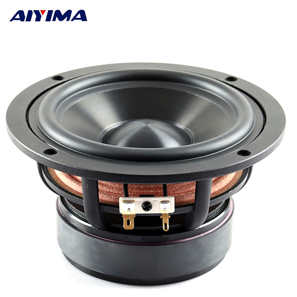 AIYIMA 1Pc 4Inch Audio Portable Speaker 4/8Ohm 50W Middle Bass Hifi Speakers Altavoz Altavoces Parlantes DIY For Home Theater