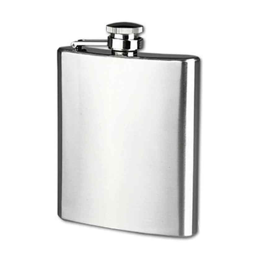 ポータブルステンレス鋼ポケットヒップフラスコアルコールウイスキー酒スクリューキャップヒップフラスコ男性アルコールミニボトルギフトホット販売
