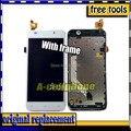 Blanco pantalla lcd + pantalla táctil digitalizador para zopo c2 zp980 c3 asamblea con marco/bisel + no. de seguimiento.