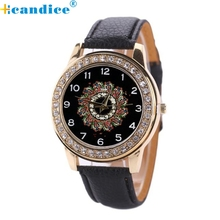 Reloj 2017 New Arrival Sizzling Sale Watch Ladies Leather-based Band Stainless Metal Quartz Analog Wrist Watch Dropshipping 17Jan5