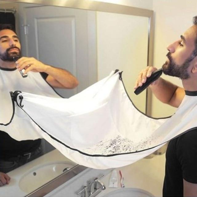 Aventais Avental Novo Barbear masculino Barba Barba Barba Cuidado Limpo Catcher Ano Novo Presente Para Namorado Pai Irmão