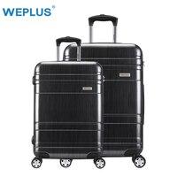 2 шт./компл. 24 дюймов + 28 дюймов pc большой емкости путешествия Спиннер для багажа чемодан для девочек мальчик тележка Case Женщины Мужчины чемод