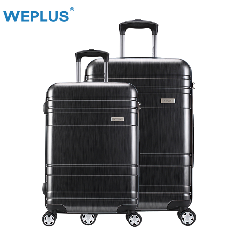 цена на 2pcs/set 24 inch +28inch pc large capacity travel luggage spinner suitcase for girl boy Trolley Case women men Spinner Trolley