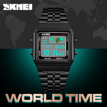 SKMEI Fashion Mens Watches Top Brand Luxury Countdown Stopwatch Electronic Digit