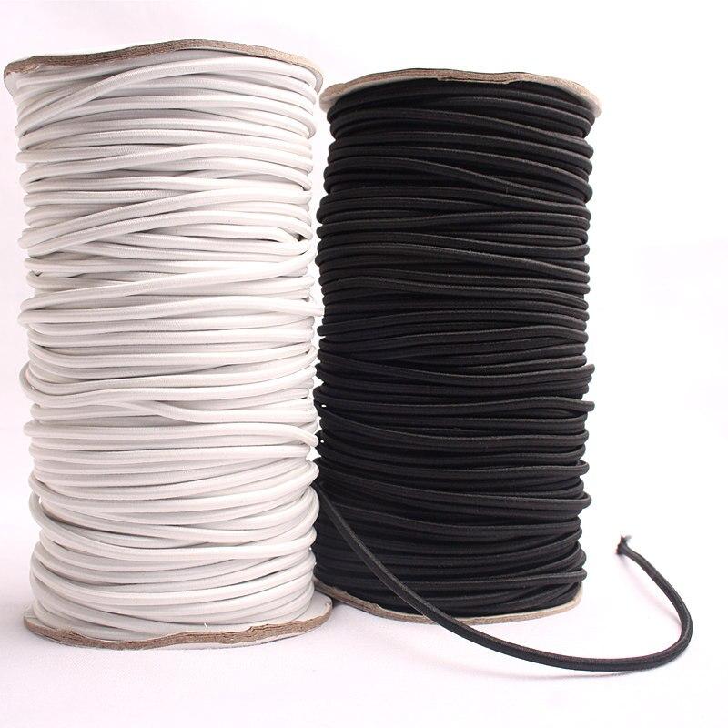 5 M Schwarz/Weiß Starke Elastische Seil Schnur Bungee Shock Cord Stretch-String für Outdoor Projekt Kajak Boot Tasche gepäck AA8513