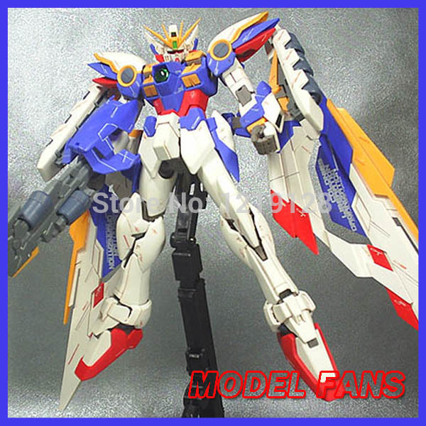 MODEL FANS Gundam assembly model MG 1:100 Wing Gundam Zero EW robots that can shape-shift GG/TT Free shipping action figure free shipping action figures robot anime assembled gundam mg 1 100ew wing zero gundam luminous stickers original box gundam